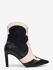 Billi Bi - Booties - enkellaarsjes met hak - black/red/white comb. 893 - 1