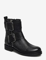 Billi Bi - Boots 5892 - flate ankelstøvletter - black floater/silver 403 - 0
