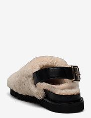 Billi Bi - Slipper  6070 - mules & slipins - beige lamb/black sole 933 - 2