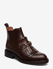 Billi Bi - Boots 7426 - flate ankelstøvletter - texas chocolate/gold 862 - 1