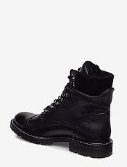 Billi Bi - Warm lining 7437 - flate ankelstøvletter - black calf/black suede 650 - 2