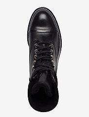Billi Bi - Warm lining 7437 - flate ankelstøvletter - black calf/black suede 650 - 3