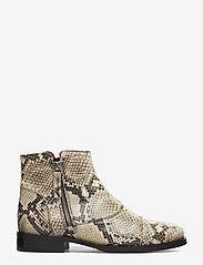 Billi Bi - BOOTS - flate ankelstøvletter - off white snake/silver 33 x - 1