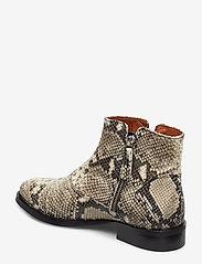 Billi Bi - BOOTS - flate ankelstøvletter - off white snake/silver 33 x - 2