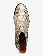 Billi Bi - BOOTS - flate ankelstøvletter - off white snake/silver 33 x - 3