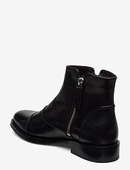 Billi Bi - BOOTS - flate ankelstøvletter - black calf/silver 603 - 2