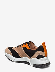 Billi Bi - Sport 8840 - chunky sneakers - beige/black/orange suede 572 - 2