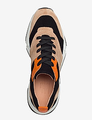 Billi Bi - Sport 8840 - chunky sneakers - beige/black/orange suede 572 - 3