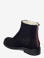 Billi Bi - Boots 93451 - platte enkellaarsjes - black suede/red zip 509 - 2