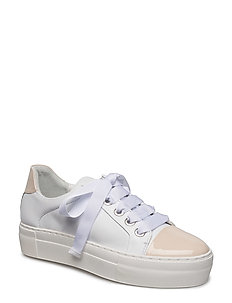 SHOES - BEIGE PATENT/WHITE NAPPA 282