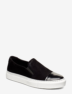 SHOES - slip-on sneakers - black polido/bl.suede 951