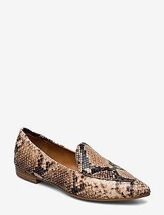 Shoes 11512 - loafers - dark beige 6071 snake 34 t