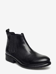 BOOTS - tasapohjaiset nilkkurit - black calf 60