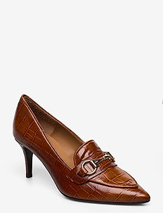 Pumps 13327 - klassiske pumps - cognac monterrey/gold 252