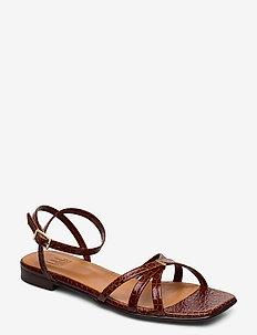 Sandals 14103 - flat sandals - cognac yango 15