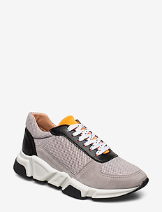 Sport 14261 - chunky sneakers - taupe/white/orange 137