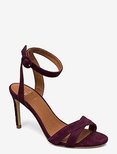 Sandal 4450 - sandalen met hak - bordeaux suede 58