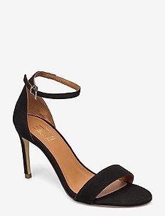 14451 Sandals - korolliset sandaalit - black suede 50