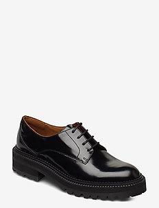 Shoes 14717 - veterschoenen - black polido  900