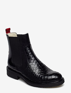 Warm lining 17424 - flat ankle boots - bl.polo/red/white lining 319