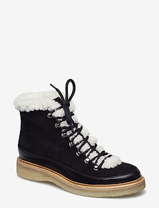 Warm lining 17442 - BLACK CALF/BLACK SUEDE 650