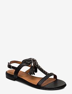 Sandals 18626 - platta sandaler - black buffalo/silver 803