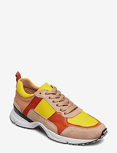 SHOES - NUDE/YELLOW/RUST COMB. 589