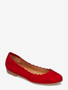 SHOES - ballerinaer - summer red 1577 suede 57