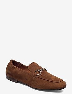 Shoes 2514 - loafers - dark cognac suede 555