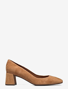 Shoes 2516 - klassiska pumps - cognac sella suede 54