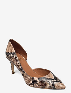 Shoes 2531 - klassiske pumps - beige 6071 snake 34 r