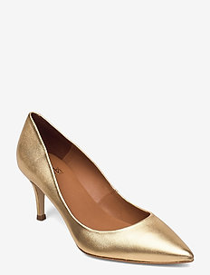 Shoes 2533 - klassiske pumps - gold nappa 002 p