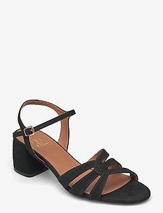 Sandals 2592 - sandały na obcasie - black suede 50