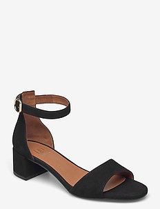 Sandals 2603 - heeled sandals - black suede 50