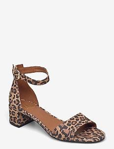 Sandals 2603 - högklackade sandaler - leopardo suede 543