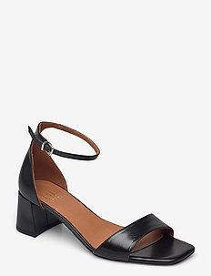 Sandals 2606 - højhælede sandaler - black baby buffalo 800