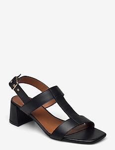 Sandals 2607 - talons à bride arrière - black calf 80