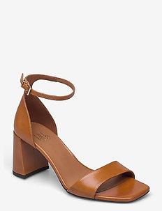 Sandals 2615 - højhælede sandaler - whisky cristal nappa 75