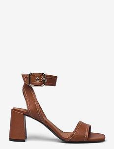 Sandals 2617 - högklackade sandaler - cognac 5144 buffalo/beige 852