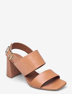 Sandals 2618 - sandały na obcasie - cuoio guanto calf  84