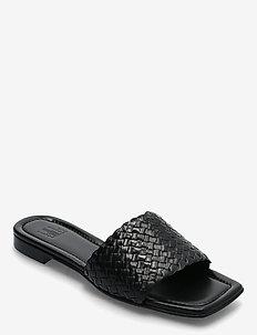Sandals 2710 - muły i wsuwane - black calf braid 80