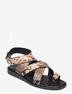 Sandals 2724 - flade sandaler - beige 6071 snake 34 r