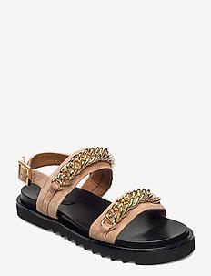 Sandals 2754 - platta sandaler - gold babysilk suede 552