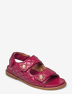 Sandals 2757 - flade sandaler - blood red nappa 78