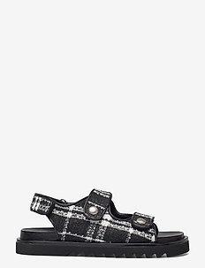 Sandals 2758 - płaskie sandały - black/white tweet 700