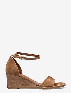 Sandals 2772 - wedges - cuoio babysilk suede 554