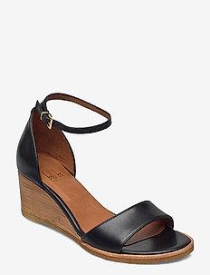 Sandals 2772 - kilklackar - black calf 80