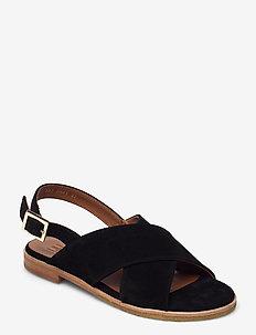Sandals 2841 - flache sandalen - black babysilk suede 500