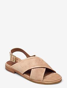Sandals 2841 - flade sandaler - gold babysilk suede 552