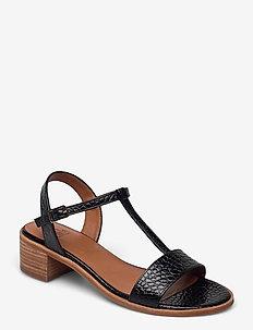 Sandals 2851 - højhælede sandaler - black yango 10